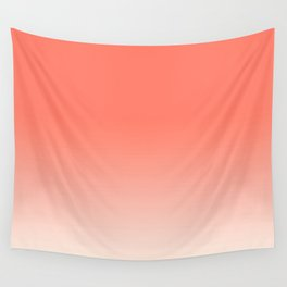 Coral to Peach Wall Tapestry