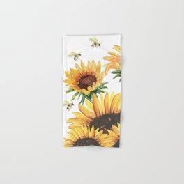 Sunflowers and Honey Bees Hand & Bath Towel