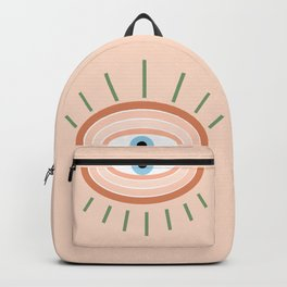Retro evil eye - neutrals Backpack
