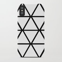 WHITE & BLACK TRIANGLES  iPhone Case