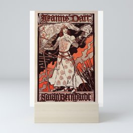 """Vintage French Poster for play """"Jeanne d'Arc"""" Mini Art Print"""