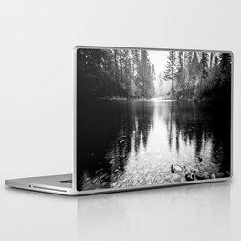 Forest Reflection Lake - Black and White  - Nature Photography Laptop & iPad Skin