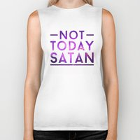 rupaul Biker Tanks featuring NOT TODAY SATAN by GLAMAZON