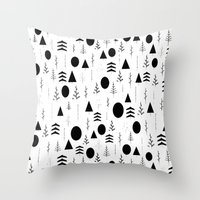 alisa burke Throw Pillows featuring Warli Painting by 83 Oranges™