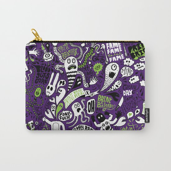 Print Brigade Collage Carry-All Pouch