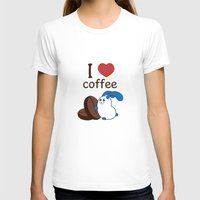 coffe T-shirts featuring Ernest | Love coffe by Hisame Artwork