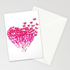 Heart can fly Stationery Cards