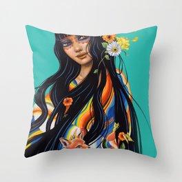Mexicana Azul Throw Pillow