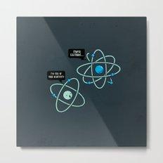 Negative Atom Metal Print