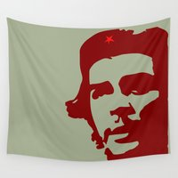 che Wall Tapestries featuring Ernesto Che Guevara the  hero by Sofia Youshi