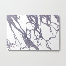 Glitter Marble Abstract V Metal Print