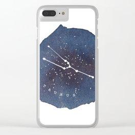 taurus constellation zodiac Clear iPhone Case