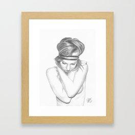 Self Embrace Framed Art Print