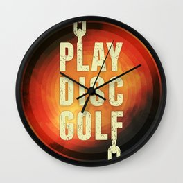 Play Disc Golf Wall Clock