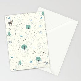 Moose on the meadow Stationery Cards
