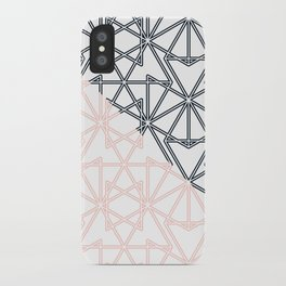 Black and Pink Crop Symmetry iPhone Case