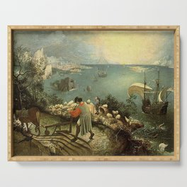 Landscape with the Fall of Icarus - Pieter Bruegel Serving Tray