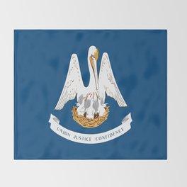 Flag of Louisiana -Louisianian,south, jazz,blues,french, new orleans, baton rouge,usa,america,us Throw Blanket
