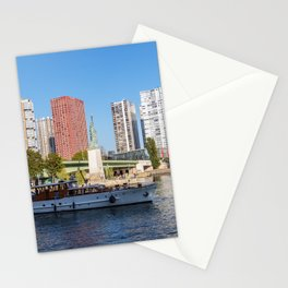 Statue of Liberty and beaugrenelle district - Paris, France Stationery Cards