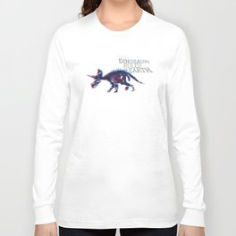 When Dinosaurs Ruled The Earth - Triceratops Long Sleeve T-shirt