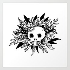 The Mexican Skull - Graphic Print Art Print