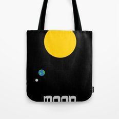 The Moon in Minimal Tote Bag
