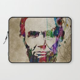 Abraham Lincoln Watercolor Modern Abstract GIANT PRINT ART Laptop Sleeve