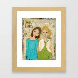 soul sisters Framed Art Print