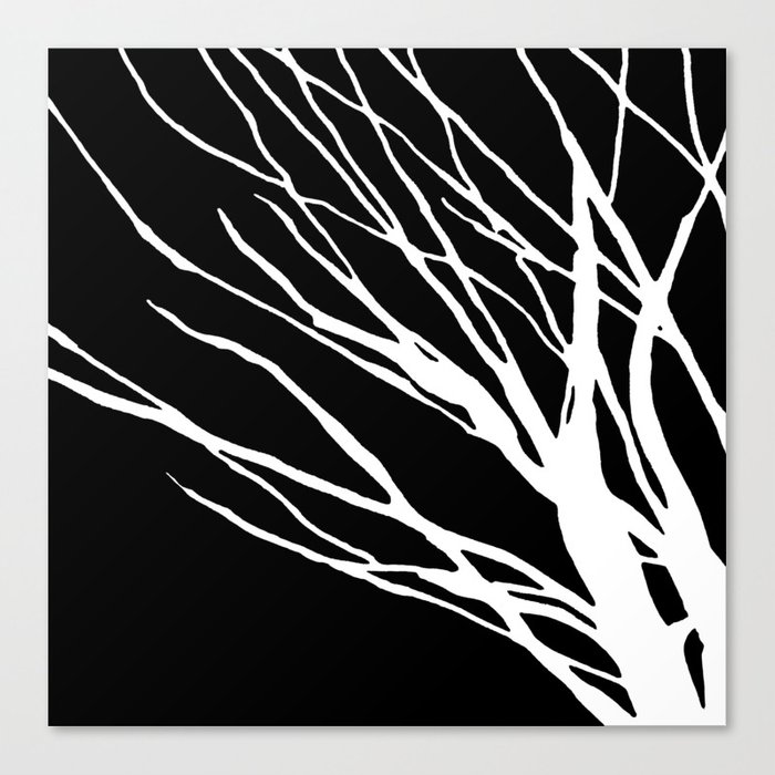 Black and White Cookie Blues Canvas Print