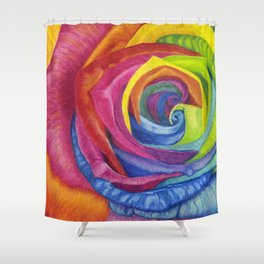 Rainbows of Roses Shower Curtain