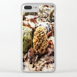 Morel Mushroom in the Wild Clear iPhone Case