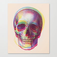 acid calavera Canvas Print