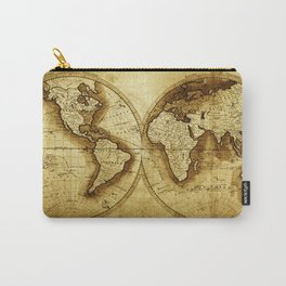 Antique Map of the World Carry-All Pouch