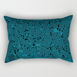 Reboot BLUE Rectangular Pillow