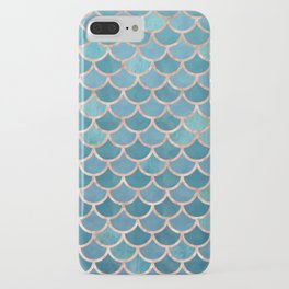 Mermaid Scales in Teal and Rose Gold iPhone Case