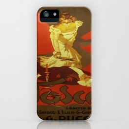 Vintage poster - Tosca iPhone Case