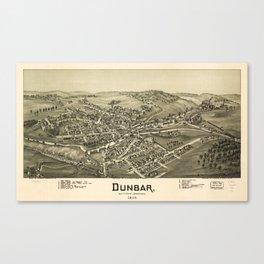 Aerial View of Dunbar, Pennsylvania (1900) Canvas Print
