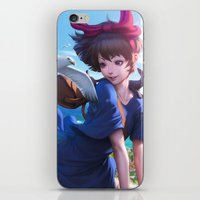 artgerm iPhone & iPod Skins featuring Airmail  by Artgerm™