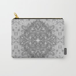 Vintage Winter Monochrome Doodle Carry-All Pouch