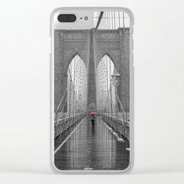 Pink Umbrella Clear iPhone Case