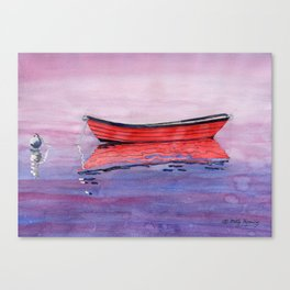 Red Dory Reflections Canvas Print