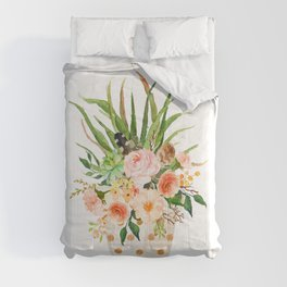 Peach Floral Comforters