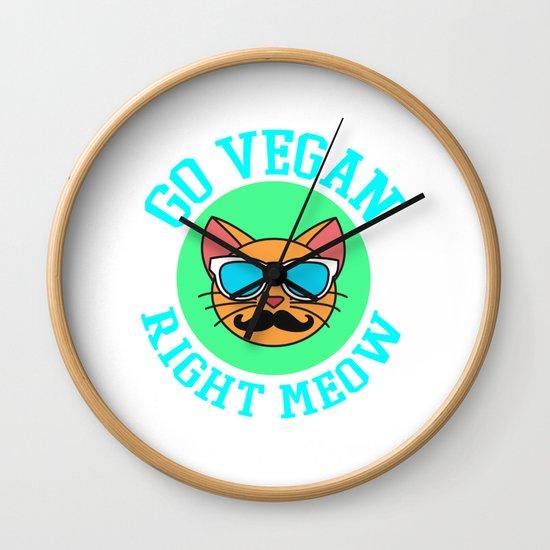 Go Vegan Right Meow Tshirt Design Cool shirt Designs by bela1992