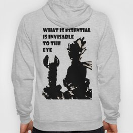 Antoine de Saint-Exupéry - quote - stencil - grey version Hoody
