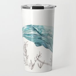Sperm Whale Watercolor Travel Mug