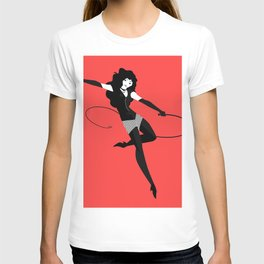 leather festish woman with whip T-shirt