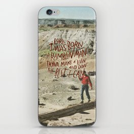 Ramblin' Man iPhone Skin
