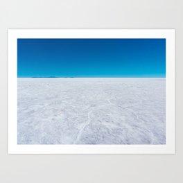 Wide Open Spaces, Salar de Uyuni Salt Flat, Bolivia Art Print