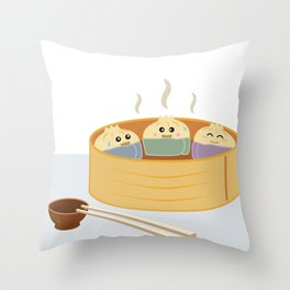 Dim Sum in a Sauna Throw Pillow