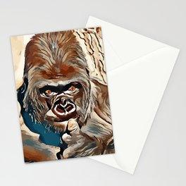Thinking Gorilla Stationery Cards
